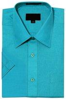 G-Style USA Men's Regular Fit Short Sleeve Solid Color Dress Shirts - 3XL/19-19.5