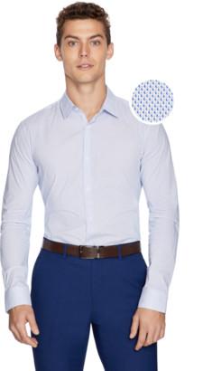 yd. Blue Flux Slim Dress Shirt