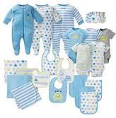 Gerber ; Baby Boys' 23 Piece Monster Layette Gift Set Blue 0-3M