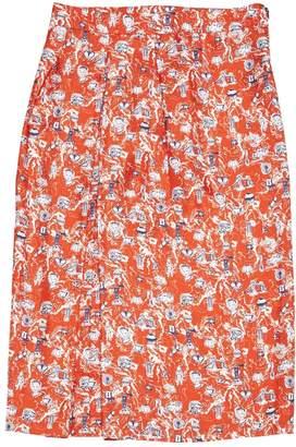 Roseanna Red Silk Skirts