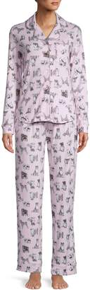 Emily And Jane Dog Lovers 2-Piece Printed Jersey Pyjama Set