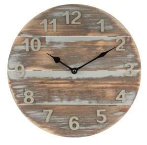 """La Crosse Technology La Crosse Clock 404-3430W 12"""" Sun Washed Wood Wall Clock"""