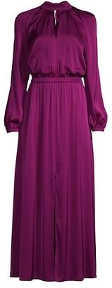 Milly Keyhole Silk Maxi Dress