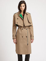 3.1 Phillip Lim Layered Two-Piece Cotton Trenchcoat