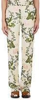 Calvin Klein Women's Floral Silk-Wool Jacquard Trousers