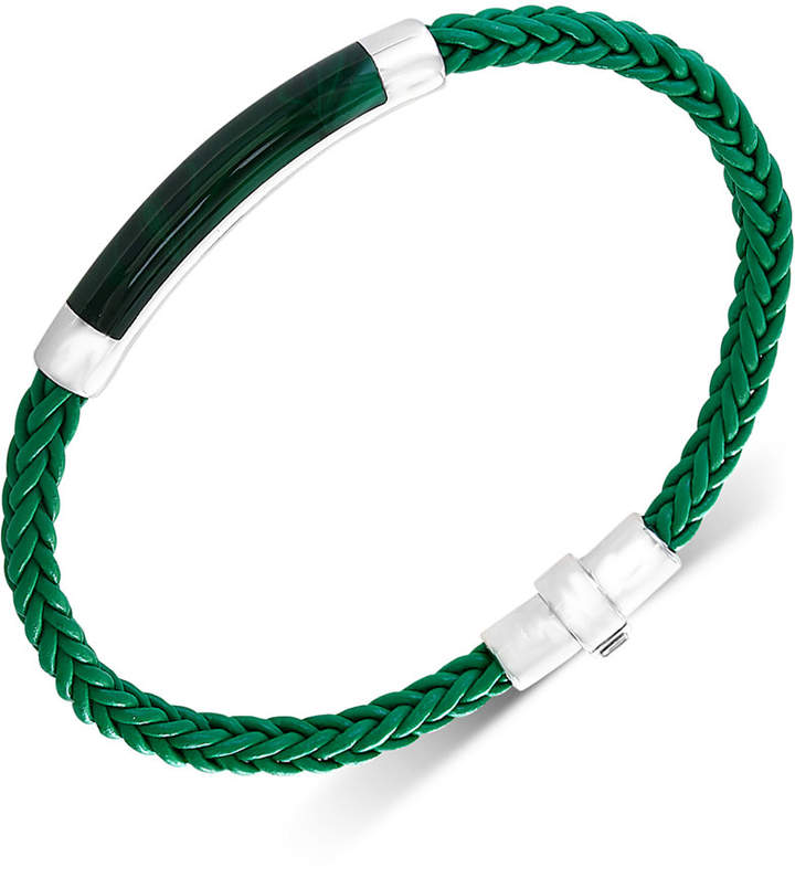 Effy Men's Lapis Lazuli Braided Leather Bracelet in Sterling Silver (Also in Malachite, Agate & Tiger's Eye)