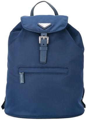 Prada Pre Owned logos backpack hand bag