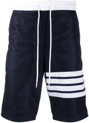 Thom Browne mesh track shorts navy