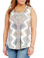 Blu Pepper Plus Tribal Print Knit Top
