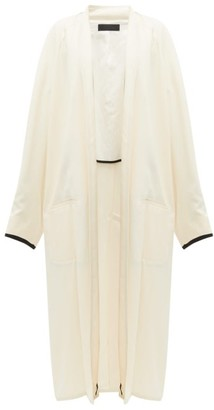 Haider Ackermann Oversized Ribbon-sleeve Open Coat - Cream