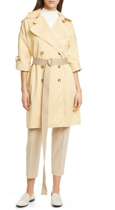Club Monaco Belted Double Breasted Trench Coat