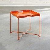 Sauder Soft Modern Tray Table, Orange Blush