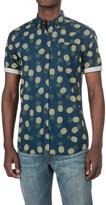 Free Nature Pineapple Print Shirt - Woven Cotton, Short Sleeve (For Men)