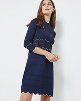 COLETIE Scallop edged knitted tunic dress