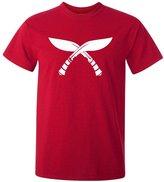 OEM Nepalese Kukri Round Neck 100% Cotton Red T Shirt with White Printing XL