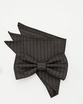 Le Château Stripe Bow Tie & Pocket Square Set