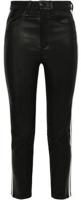 Rag & Bone Striped Leather Skinny Pants