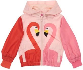 Stella McCartney Kids Flamingo Print Recycled Jacket Hoodie