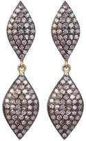 Lera Jewels Mini 2-tier Marquis Earrings