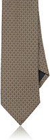 Barneys New York MEN'S GEOMETRIC SILK JACQUARD NECKTIE
