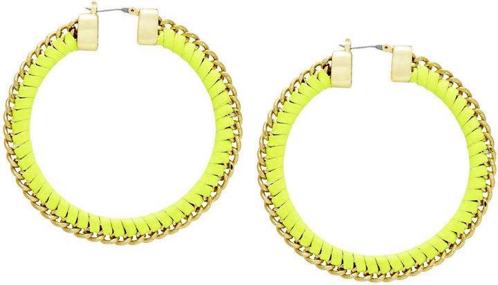 BCBGMAXAZRIA Woven Chain Hoops