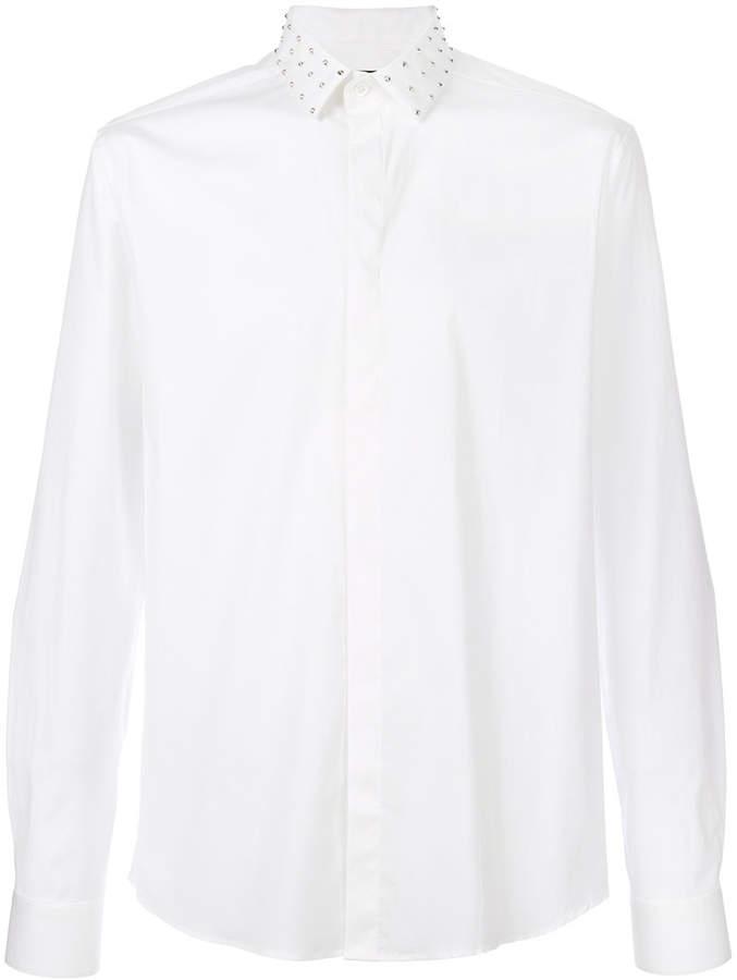 Les Hommes studded collar shirt
