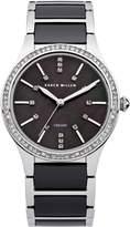 Karen Millen Ladies black bracelet watch