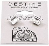 Crystallite Destine Austrian Cut Square Post Earrings