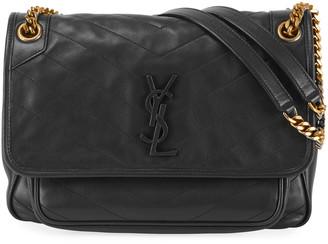 Saint Laurent Niki Medium Monogram Lamb Leather Shoulder Bag