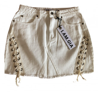 I.AM.GIA Beige Denim - Jeans Skirts