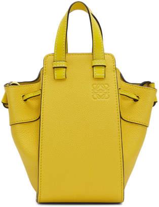 Loewe Yellow Mini Hammock Drawstring Bag