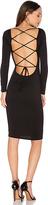 Riller & Fount Melody Midi Dress in Black