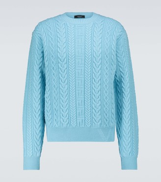 Versace Cable knitted wool sweater