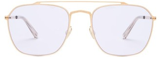 Mykita X Maison Margiela Aviator Sunglasses - Gold