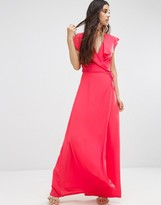Oh My Love Wrap Maxi Dress