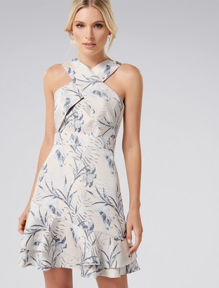 Forever New Malibu Cross-Front Dress - Tropical Jacquard - 10