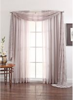 Linen Sheer 108-Inch Window Curtain Panel in Silver