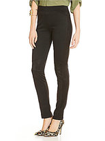 Freestyle Faux-Suede-Inset Ponte Leggings