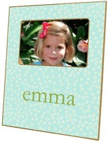 The Well Appointed House Aqua Daisy Decoupage Picture Frame-Can Be Personalized