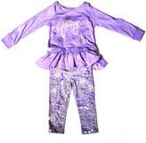 Juicy Couture Baby's Long-Sleeve Ruffled Shirt & Pants Set