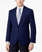 Ryan Seacrest Distinction Ryan Seacrest DistinctionTM Men's Slim-Fit Blue Windowpane Sport Coat, Created for Macy's
