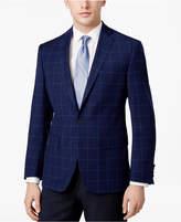 Ryan Seacrest Distinction Ryan Seacrest DistinctionTM Men's Slim-Fit Blue Windowpane Sport Coat, Only at Macy's