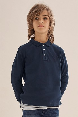 Country Road Long Sleeve Polo