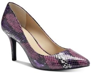 INC International Concepts I.n.c. Women's Zitah Mid-Heel Pumps, Created for Macy's Women's Shoes