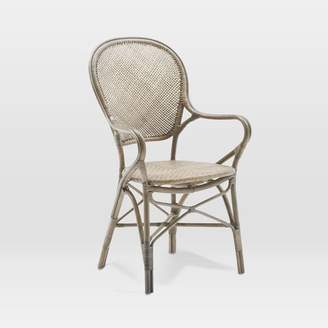 west elm Indoor Rattan Cafe Arm Chair
