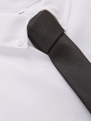 Very Smart Shirt & Tie Set - White/Black