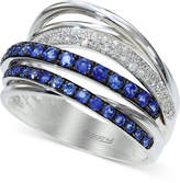 Effy Royale Bleu by Sapphire (3/4 ct. t.w.) and Diamond (1/5 ct. t.w.) Band in 14k White Gold