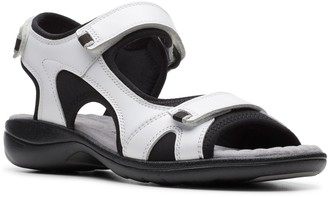Clarks Collection Leather Sporty Sandals - Saylie Spin