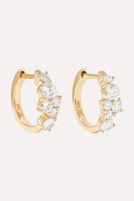 Sydney Evan Huggie 14-karat Gold Diamond Hoop Earrings