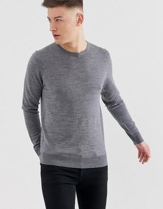 Jack and Jones crew neck knit-Grey